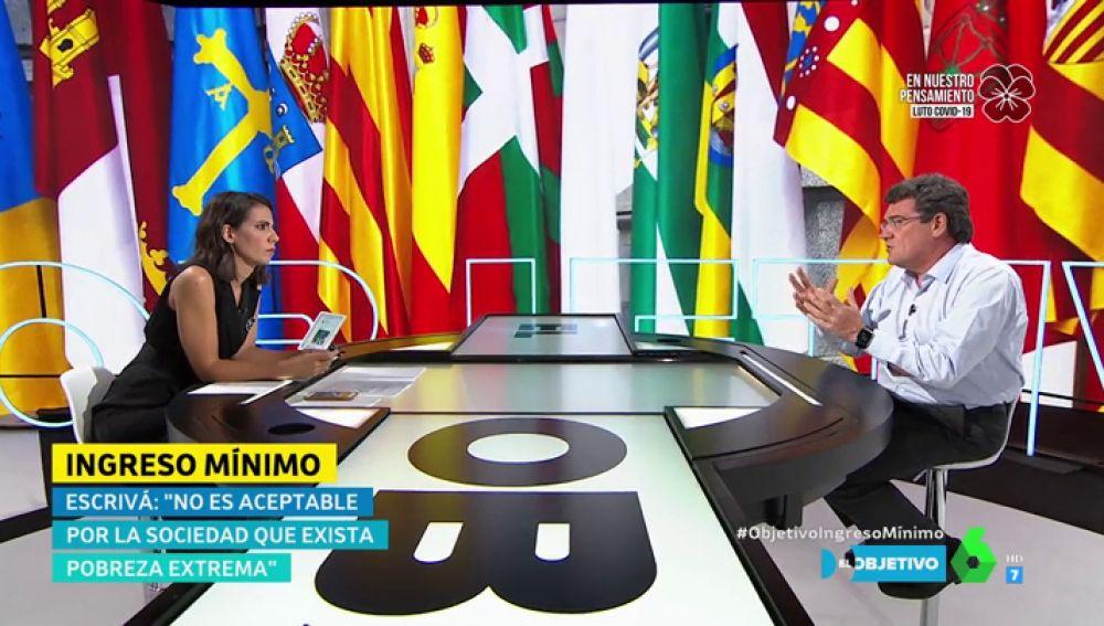 Ana Pastor entrevista en El Objetivo a José Luis Escrivá