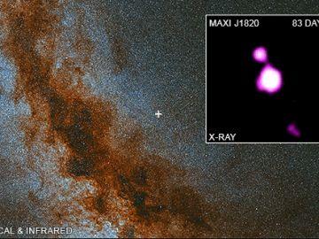 El último agujero negro captado por la NASA