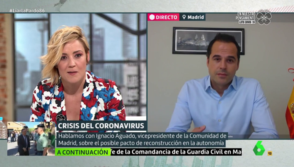 """Aguado descarta una moción de censura contra Díaz Ayuso y recuerda que """"está a tiempo de iniciar diálogos"""""""