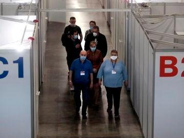 Imagen de un área de hospitalización para tratar el COVID-19 en Rusia