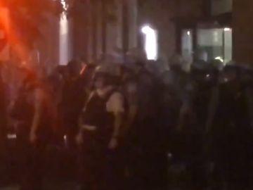 El actor denuncia una agresión policial durante las protestas de Chicago