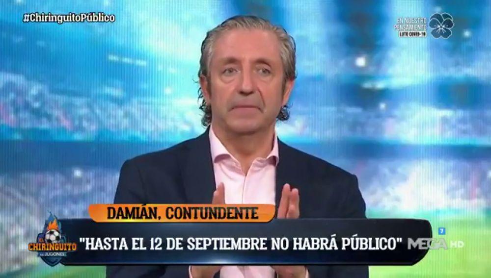 """Exclusiva de Pedrerol: """"El Real Madrid jugará la Champions en el Bernabéu si puede entrar público"""""""