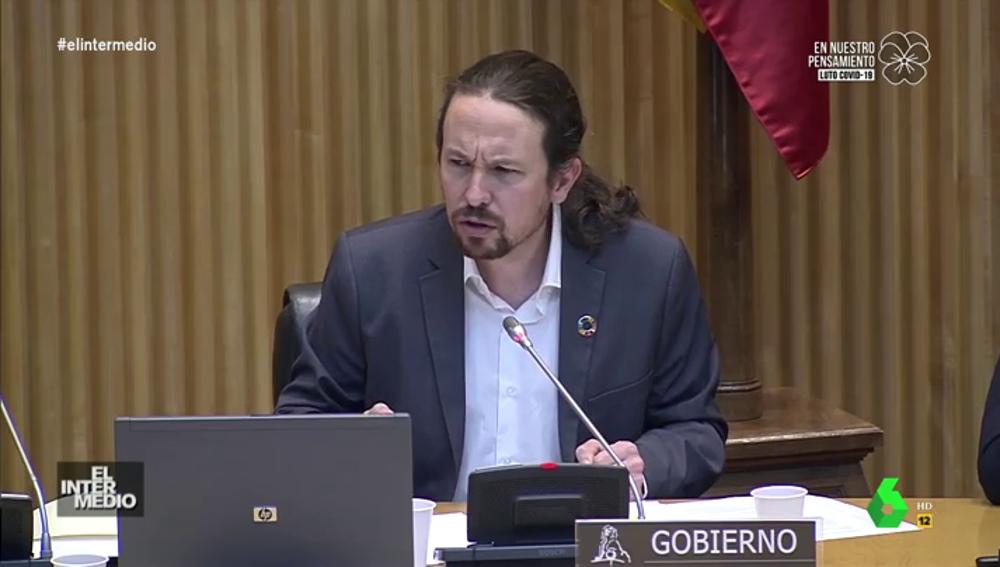 Vídeo manipulado - Lo que no se escuchó del rifirrafe entre Espinosa e Iglesias en la comisión