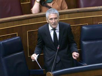 """Marlaska responde a la oposición en el Congreso: """"No voy a dimitir porque no he hecho nada ilegal"""""""