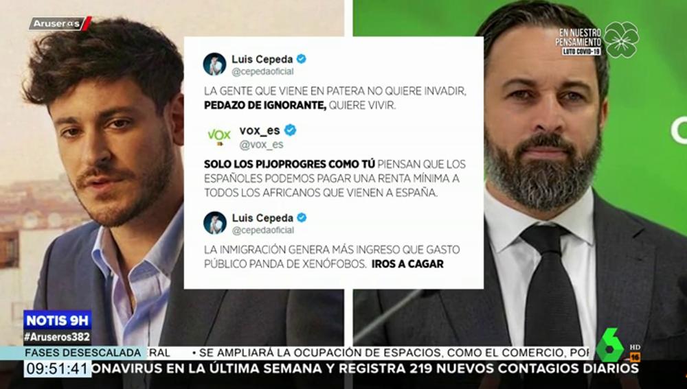 Guerra entre Cepeda y Vox en Twitter