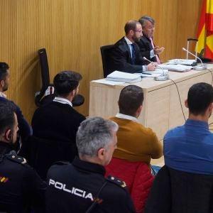 'La Manada' durante el juicio