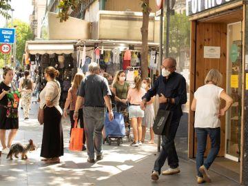 Imagen de archivo del eje comercial de Creucoberta de Barcelona