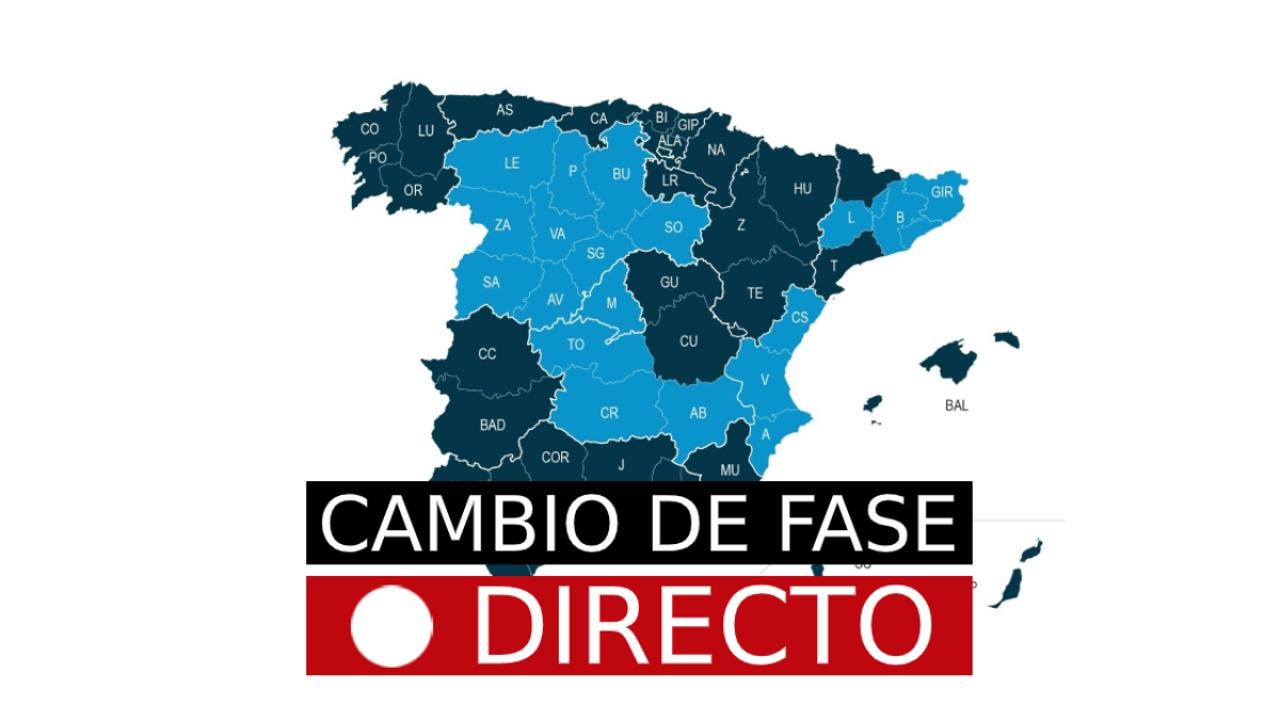Cambio de fase por desescalada de coronavirus en España, hoy   Fase 1, 2 y 3, última hora en directo