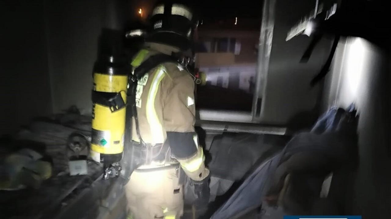 Rescate en la casa donde se produjo el incendio