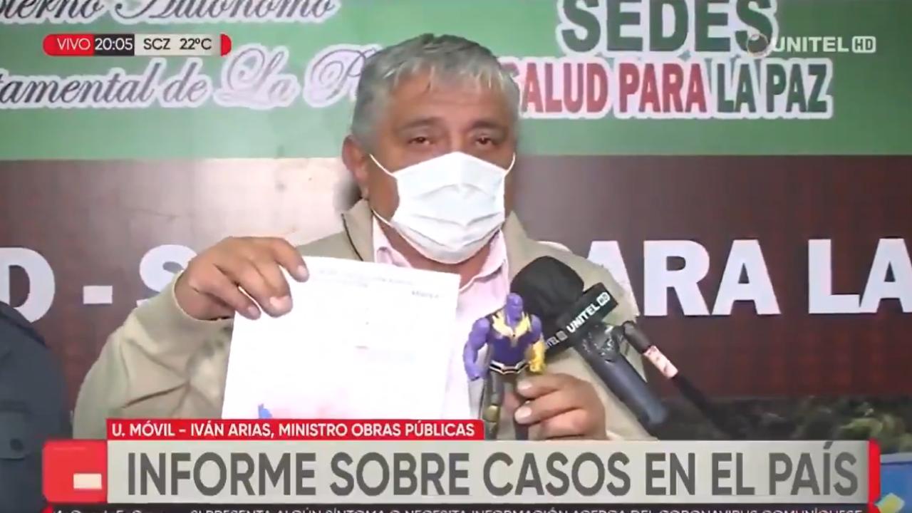 Iván Arias, ministro de Obras Públicas de Bolivia
