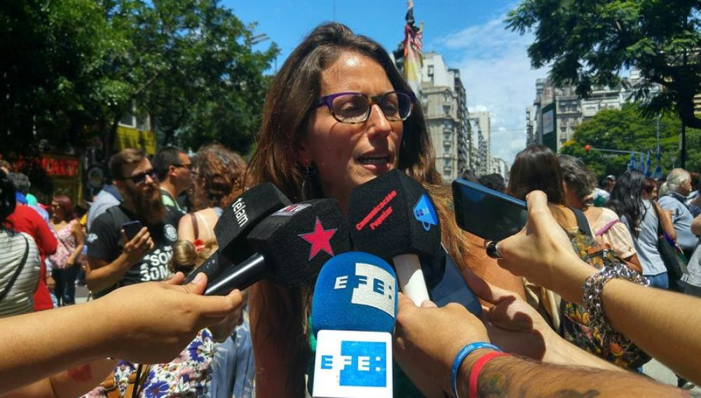 Imagen de la ministra argentina de Mujeres, Género y Diversidad Sexual, Elizabeth Gómez Alcorta