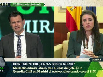 """Irene Montero, a Iñaki López: """"Puedes imaginar lo que pienso de Pérez de los Cobos, pero tengo responsabilidad institucional"""""""