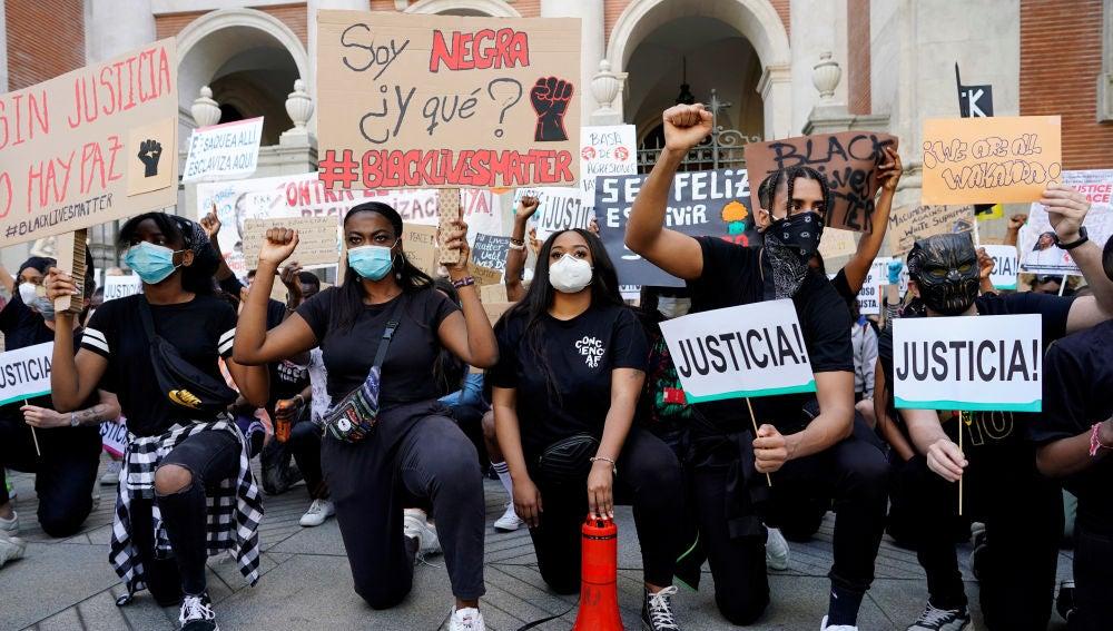 Imagen de la manifestación por George Floyd en Madrid