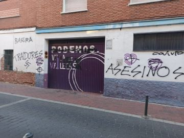 Atacan la sede de Podemos en Villa de Vallecas