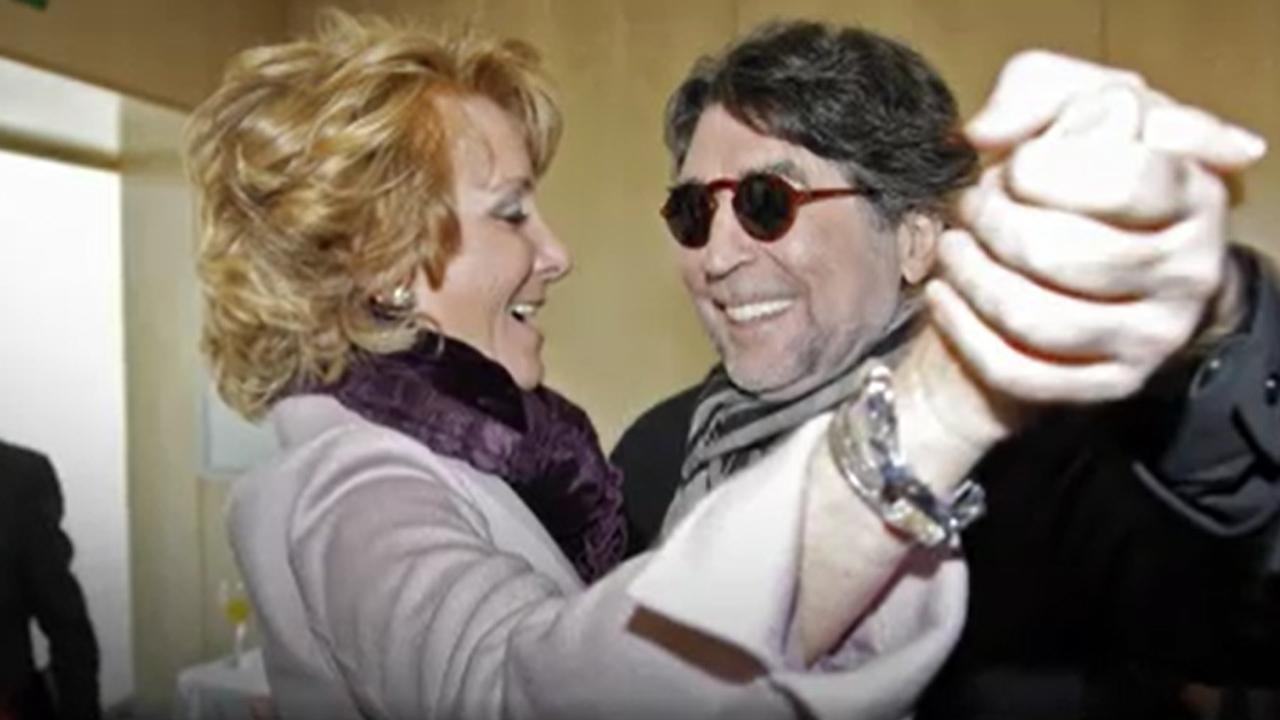 Esperanza Aguirre y Joaquín Sabina bailan 'Y nos dieron las diez'
