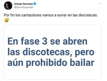 El celebrado tuit de Ismael Serrano