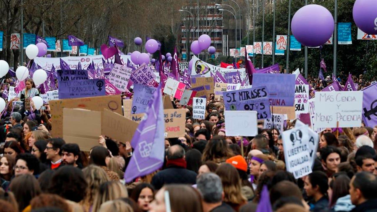 La manifestación del 8 de marzo en Madrid