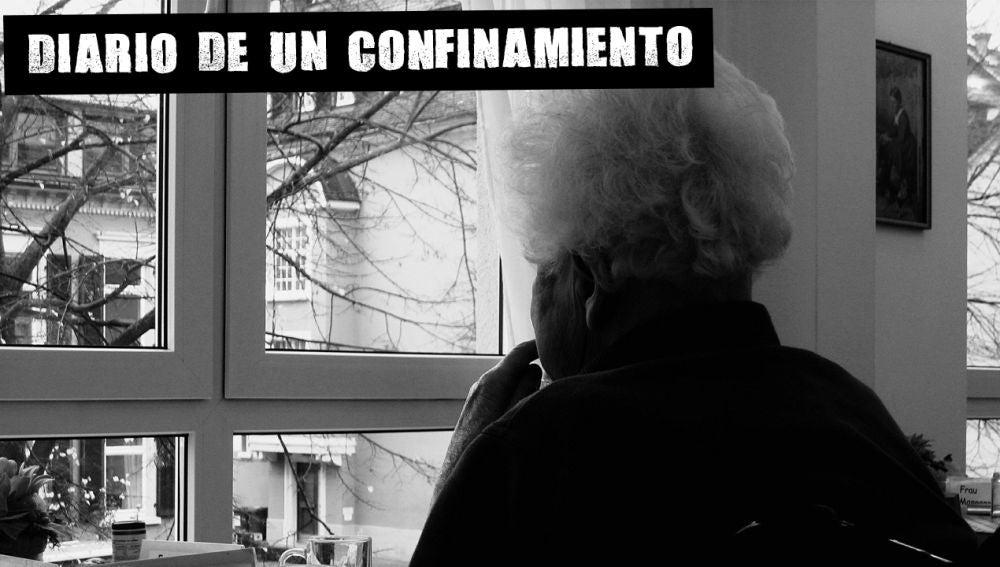 Imagen de una anciana en una residencia de mayores