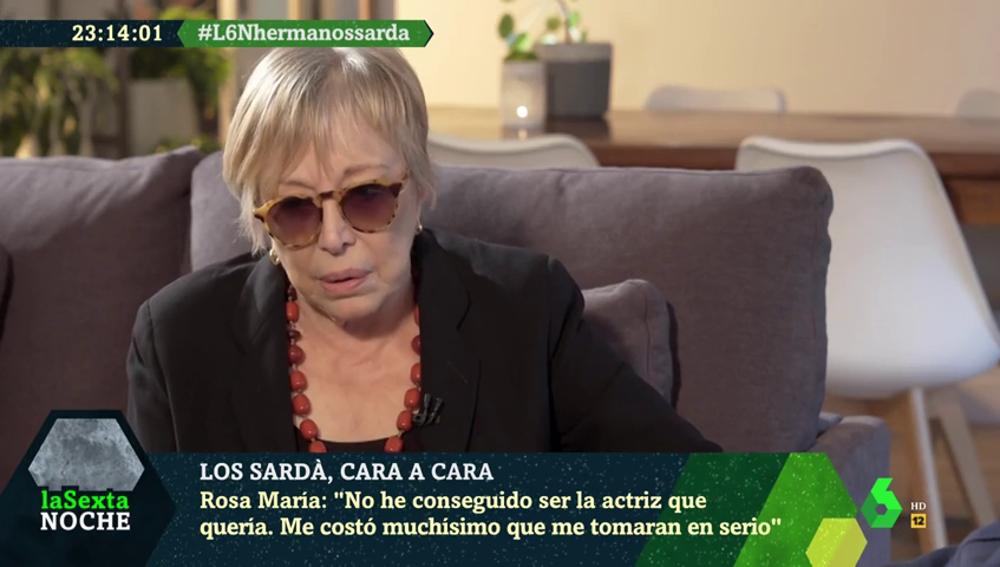 """Rosa María Sardà, relato de una vida dedicada al teatro: """"Tuve que ensuciarme mucho las manos y hacer tonterías"""""""