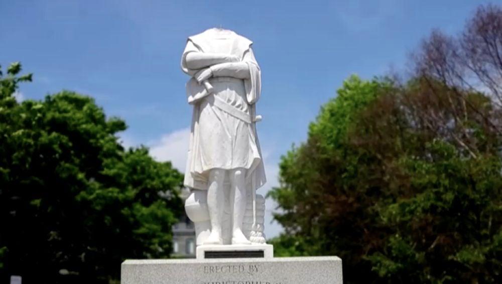 Estatua de Cristobal Colón en Boston
