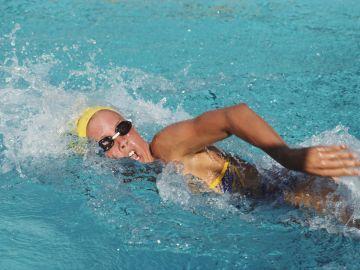Una exnadadora, en una foto de archivo de 1984
