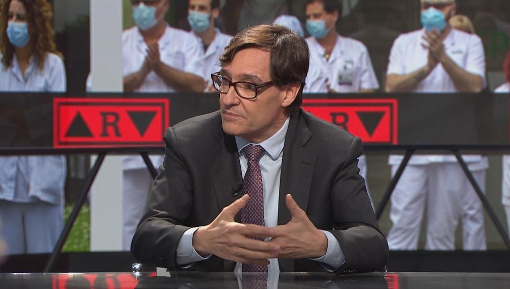 El ministro de Sanidad, Salvador Illa, en ARV