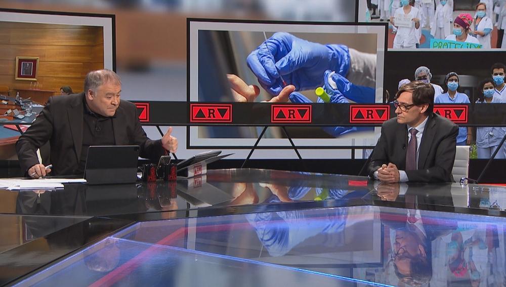 Antonio García Ferreras entrevista a Salvador Illa en ARV
