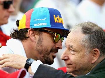 Fernando Alonso y Jean Todt