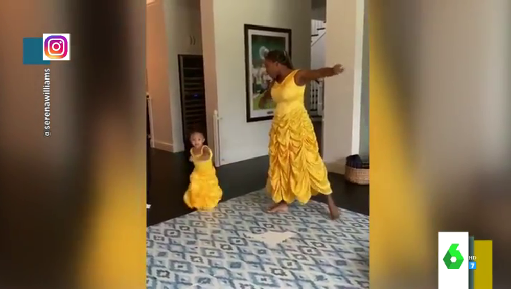 El tierno baile de Serena Williams y su hija disfrazadas de la princesa Bella