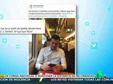 Rescatan la lista de Spotify de Pedro Sánchez de 2017 y se hace viral por tener canciones de 'perreo' y de 'llorar'