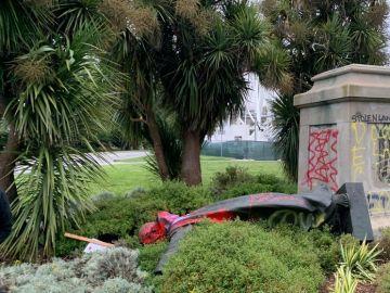 La estatua de Fray Junípero Serra en San Francisco
