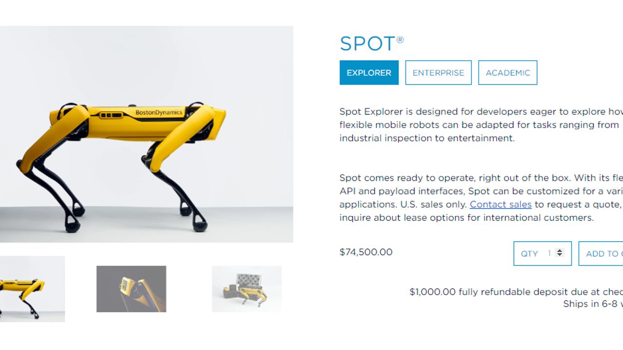 El perro robot Spot, de Boston Dynamics, a la venta