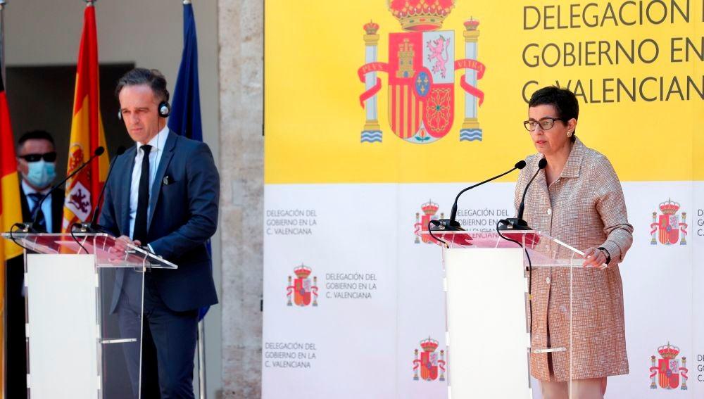 a ministra de Asuntos Exteriores, Unión Europea y Cooperación, Arancha González Laya, y su homólogo alemán, Heiko Maas