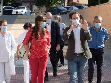 La consejera de Sanidad, Sira Repollés, de visita en las comarcas afectadas