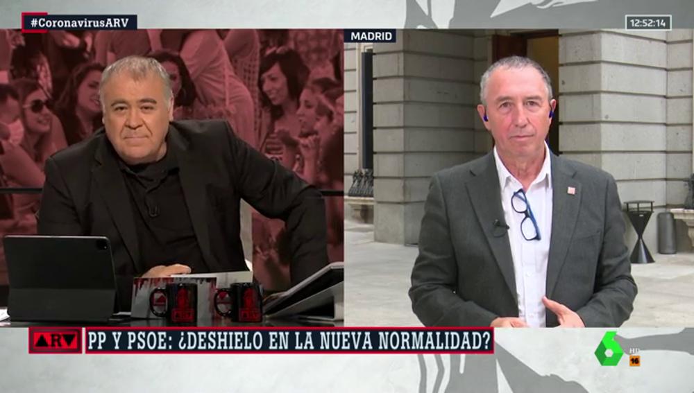 """Baldoví, sobre la rebaja de tensión entre PP y PSOE: """"Igual es solo para tener la excusa de decir 'hemos tendido la mano' al Gobierno"""""""