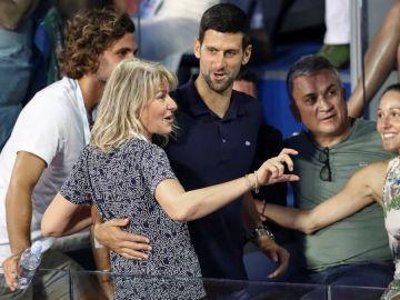 La familia Djokovic al completo en el Adria Tour