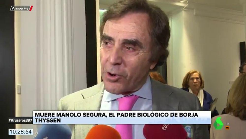 Muere Manolo Segura, el padre biológico de Borja Thyssen a los 77 años