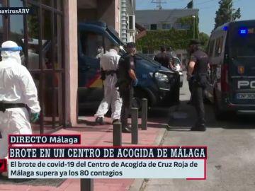 Ascienden a 80 los positivos por coronavirus en el brote del centro de acogida de Cruz Roja de Málaga