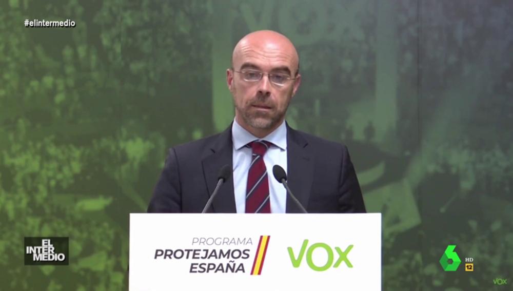 """Vídeo manipulado - El """"claro discurso"""" del portavoz de Vox Jorge Buxadé 'a lo Antonio Ozores'"""