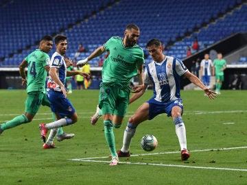 Taconazo de Karim Benzema frente al Espanyol