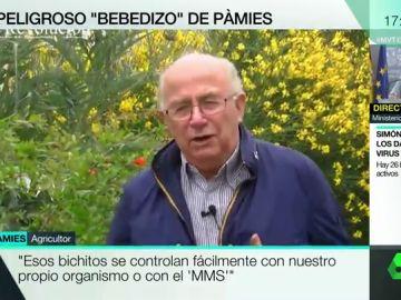 """El vídeo en el que Pàmies animaba a contagiarse y curarse con MMS: """"No tenemos miedo ni al bicho, ni al Gobierno"""""""