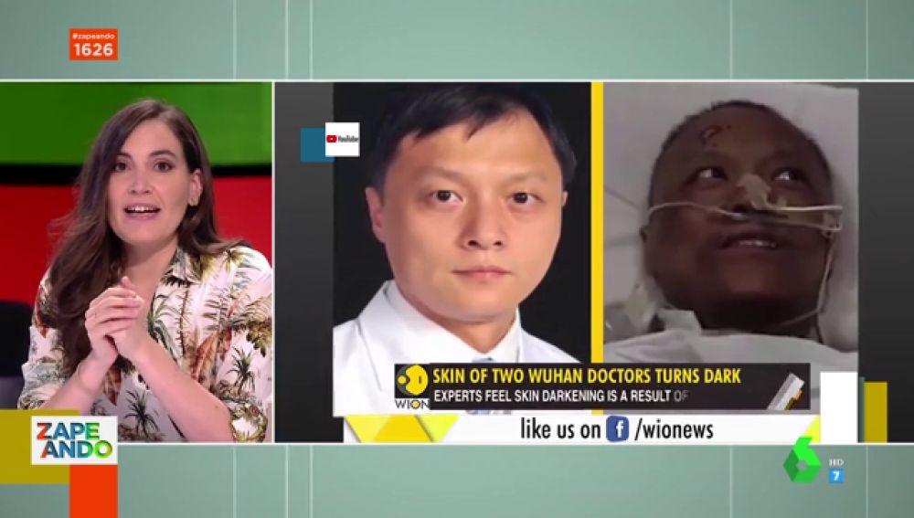 Este es el motivo por el que dos médicos chinos cambiaron de color de piel tras contagiarse de coronavirus
