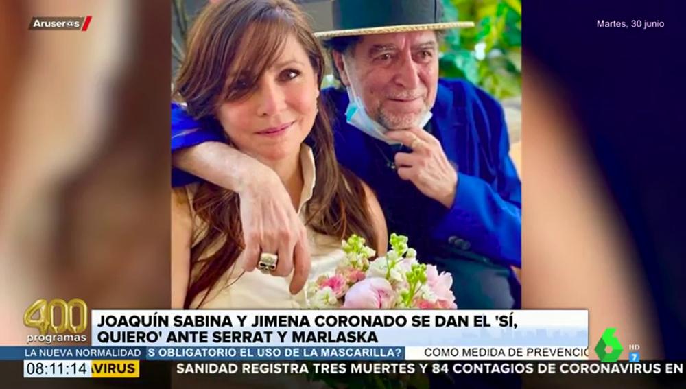 Las fotografías de la boda secreta de Joaquín Sabina y Jimena Coronado