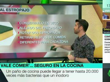 El nutricionista Luis Alberto Zamora explica en Más Vale Tarde los principales focos de bacterias en la cocica