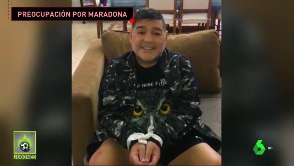 La irónica respuesta de Maradona a los que dicen que está preso de su entorno