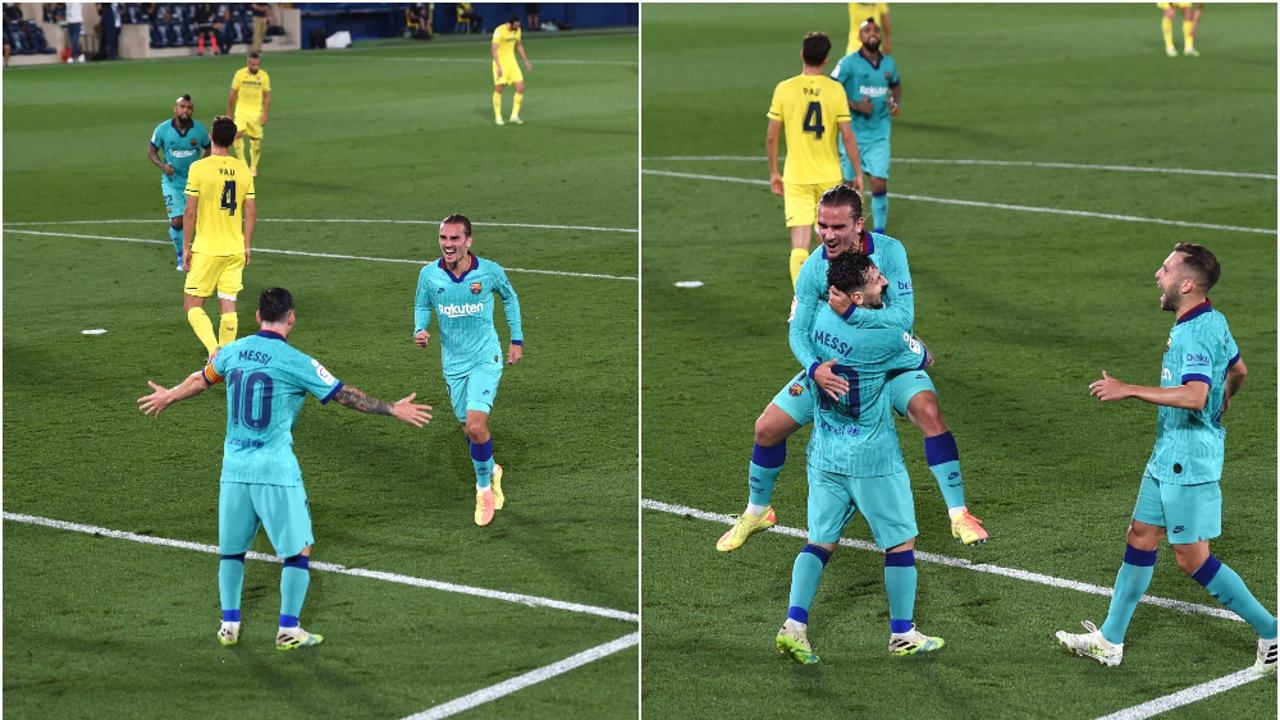 Leo Messi y Antoine Griezmann