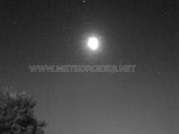 Bola de fuego procedente de un asteroide