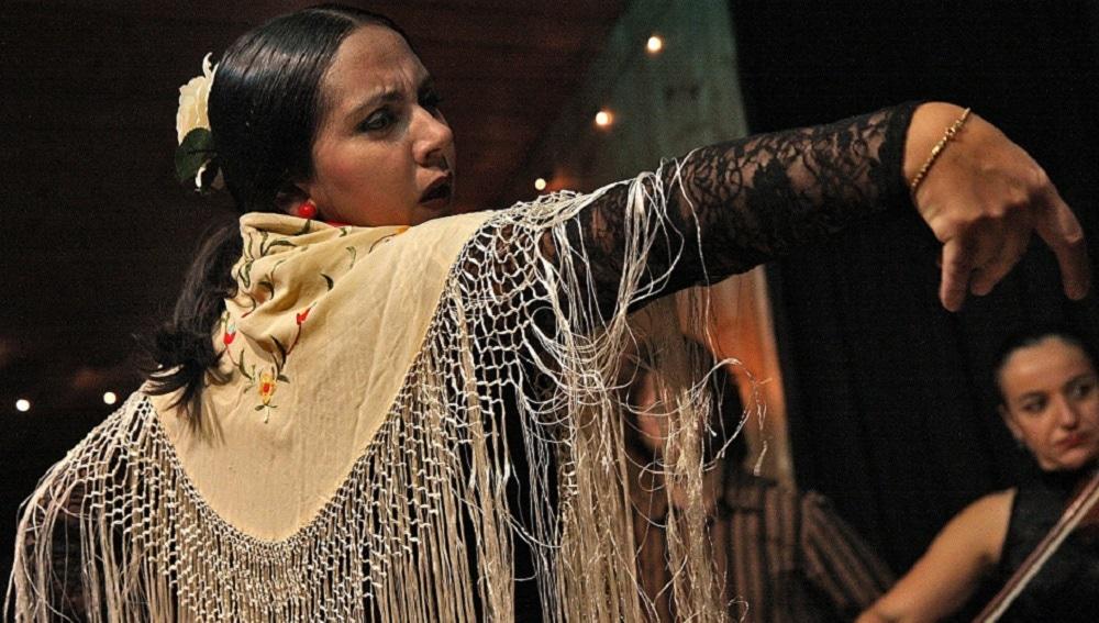 Imagen de una mujer bailando flamenco