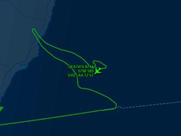 La cola de canguro dibujada por el Boeing