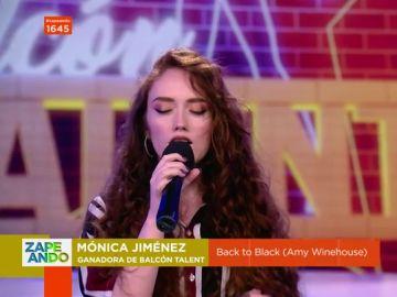 La actuación en directo de Mónica Jiménez, la ganadora del 'Balcón Talent' de Zapeando